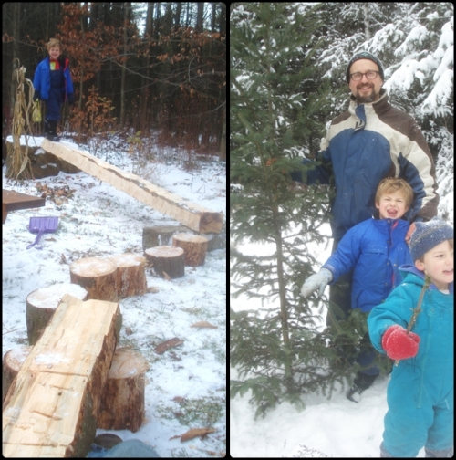 xmass and balance beam